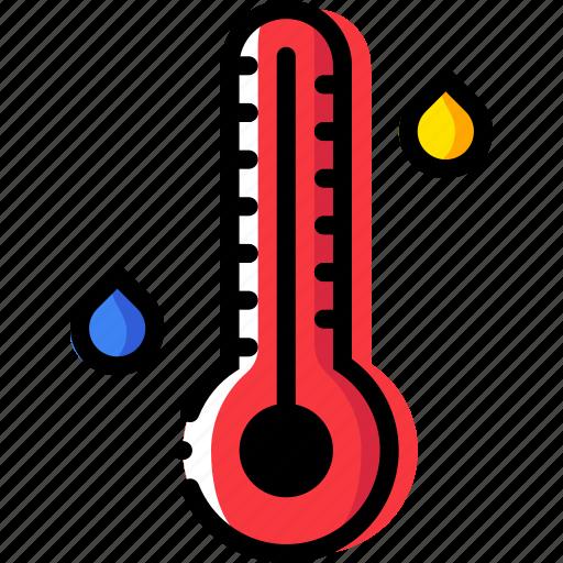climate, high, precipitation, temperature, weather icon