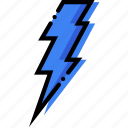 climate, lightning, precipitation, weather icon