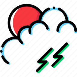 climate, morning, precipitation, storm, weather icon