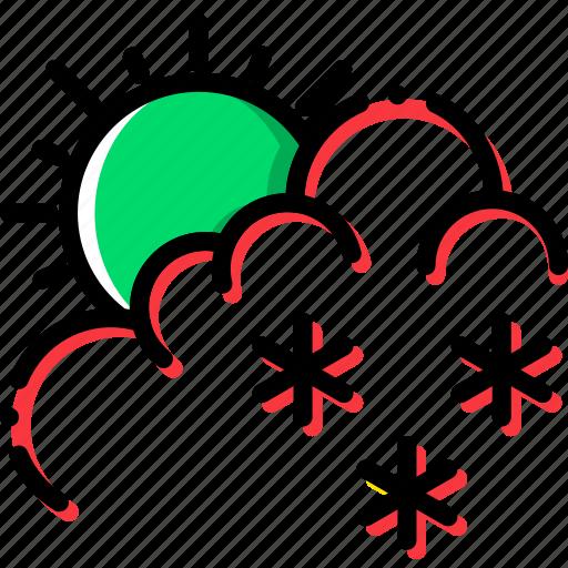 climate, drizzle, precipitation, weather icon