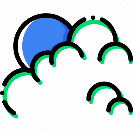 climate, cloudy, morning, precipitation, weather icon