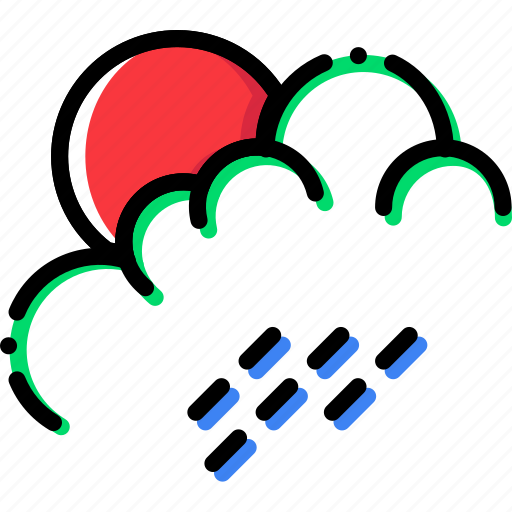 climate, morning, precipitation, rain, weather icon