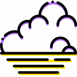 climate, low, precipitation, tide, weather icon