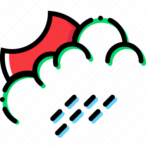 climate, night, precipitation, rainy, weather icon