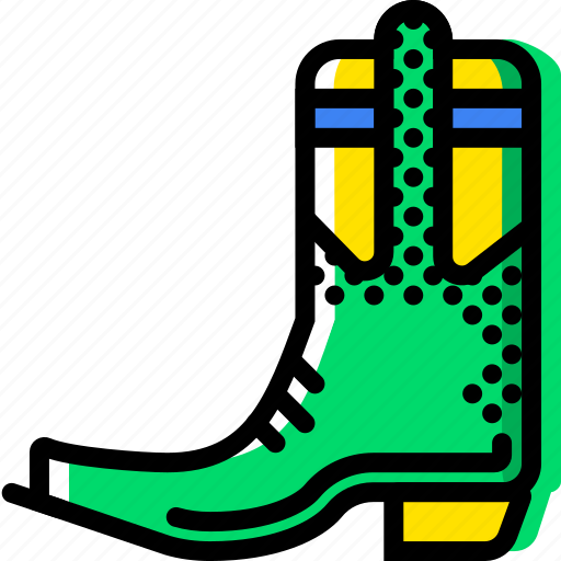 boots, cowboy, desert, gun, west, wild icon