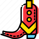 army, boots, cowboy, gun, union, west, wild icon
