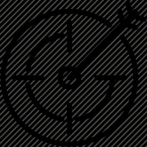 aim, archery, bullseye, game, sport, target icon