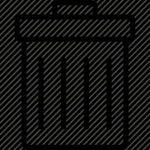 delete, dustbin, garbage, recycle, remove, trash, trashcan icon