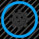emotion, frown, gear, machine, technology, wheel, wonder icon