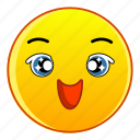 cartoon, character, face, happy, kind, laughing, smiling