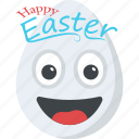 cheerful, emoticon, happy easter emoji, happy smiley, smiley icon