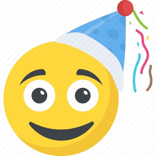 Birthday Emoji Celebration Happy Face Party Emoticon Smiley Icon