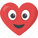 adorable, emotions, heart emoji, in love, valentine icon