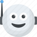 cyborg, emoticon, robot emoji, robot face, smiley icon