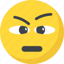 annoyed, depressed, emoji, frowning face, unamused face icon