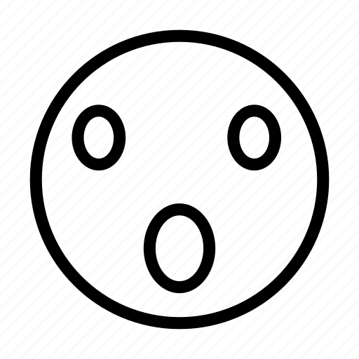 emoji, face, hushed, surprise, wow icon
