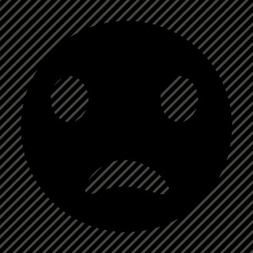 emoticon, face, sad, smiley, unhappy icon