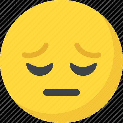 Depressed Emoticon Sad Face Sad Smiley Unhappy Icon