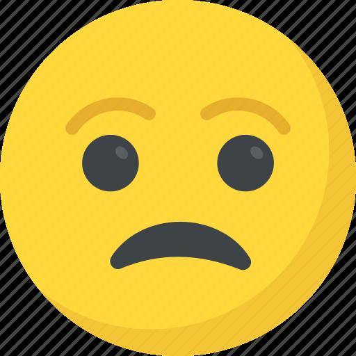 depressed, emoticon, sad face, sad smiley, unhappy icon