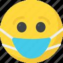 emoticon, expressions, smiley, emoji, medical mask emoji