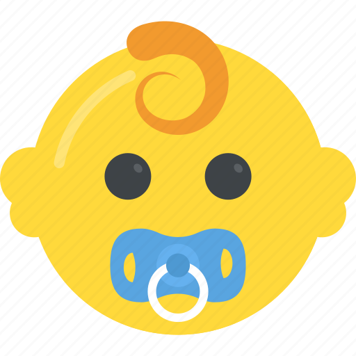 baby face, kid, newborn, pacifier, toddler icon