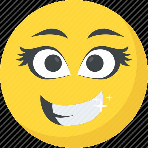 cute emoticon eyelashes long lashes emoji smiley icon