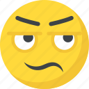 afraid, confounded face, confused, emoji, smiley icon