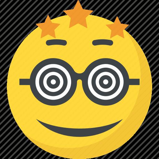 confused, dizzy emoji, emoticon, silly face, smiley icon