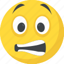 emoticon, grimacing face, smiley, emoji, irritated icon