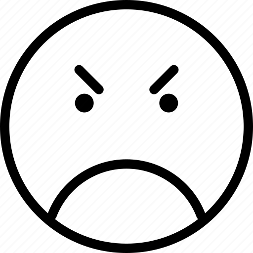 angry, avatar, face, frown, smiley icon