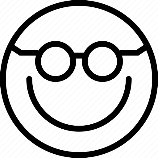 Avatar, Face, Glasses, Smiley Icon
