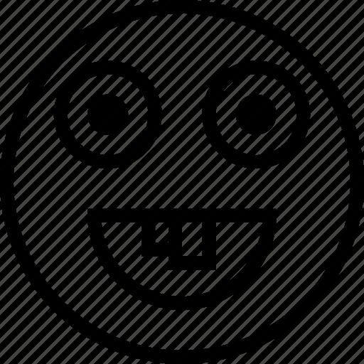 avatar, dorky, face, happy, smiley icon