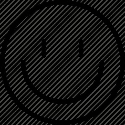 avatar, face, happy, plain, smiley icon