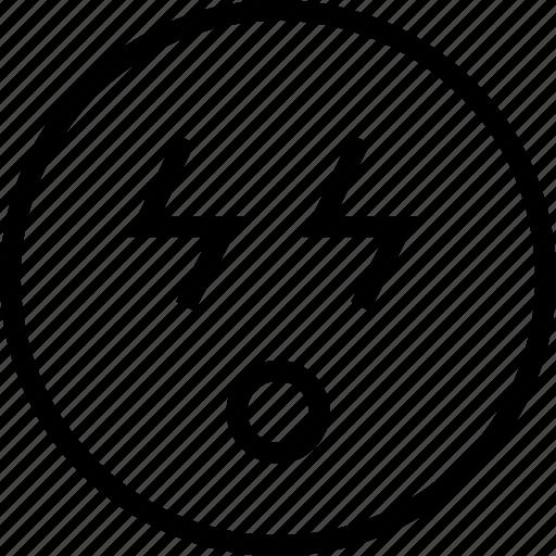 avatar, bolt, eyes, face, lighting, smiley icon