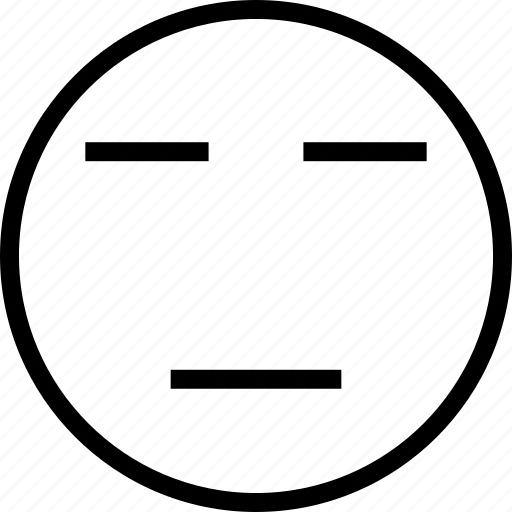 avatar, face, plain, smiley, straight icon