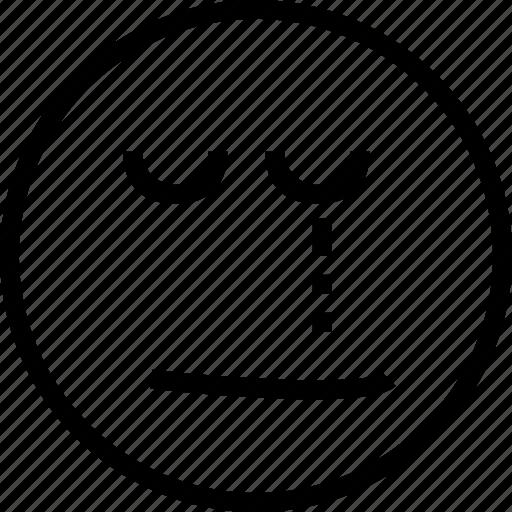 avatar, crying, eye, face, one, sad, smiley icon