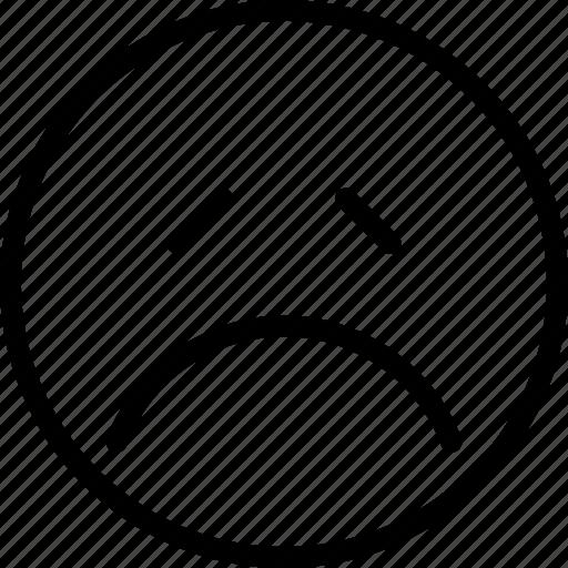 avatar, face, plain, sad, smiley icon