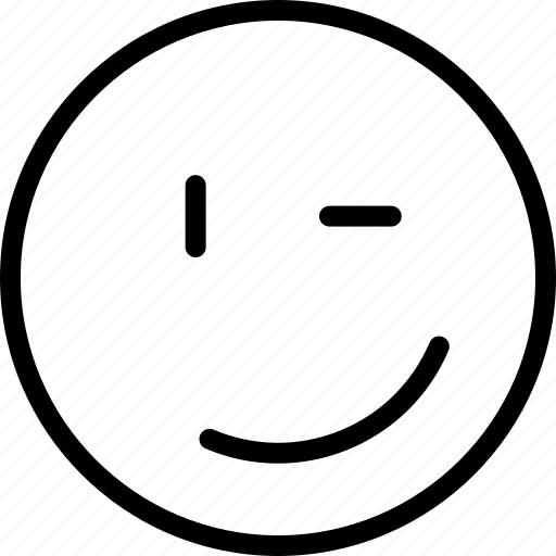 avatar, face, plain, smiley, wink icon