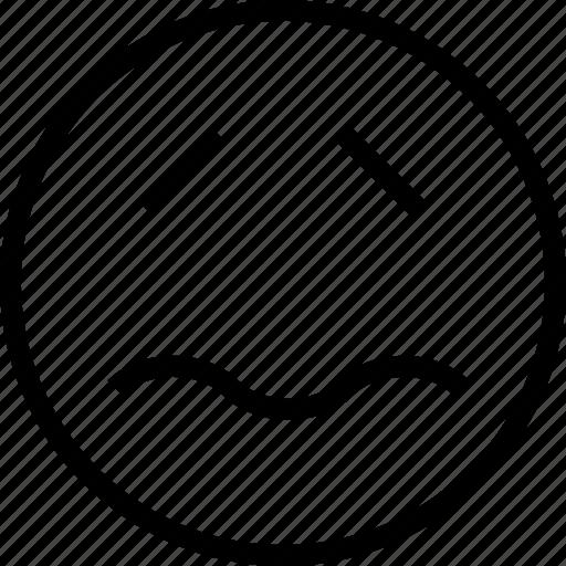avatar, face, sad, smiley, worry icon