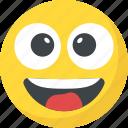 big grin, emoticon, happy face, laughing, lol icon