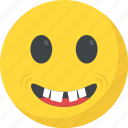 big grin, emoticon, laughing, rofl, smiley face icon
