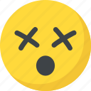 confused, dizzy face, emoji, emoticon, sleepy icon