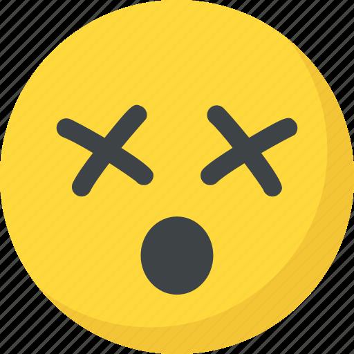 confused, dizzy face, emoji, emoticon, sleepy icon