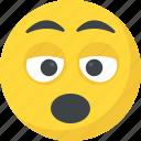 bored, emoji, sleepy face, tired, yawn face icon
