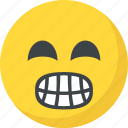 emoticon, grimacing face, open mouth, emoji, irritated icon