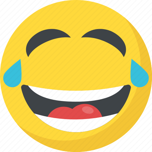 Emoticons Face Smiley Laughing Tears Icon