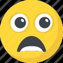astonished face, hushed face, shocked, surprised, wondering icon