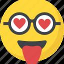 emoji, feeling loved, happy smiley, in love, valentine icon