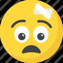 bandage emoji, clumsy, emoticon, injured, sickness icon