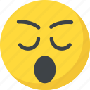 bored, emoji, sleepy face, tired, yawn face icon
